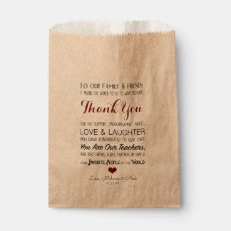 Wedding Favor Thank You Treat Bag burgundy 3979