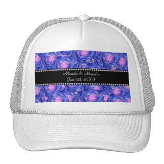 Wedding favors Blue roses Trucker Hat