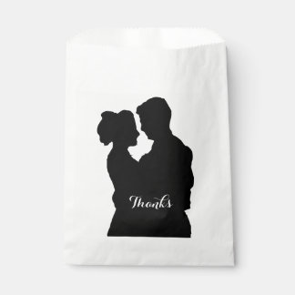 Wedding Favors - Couple silhouette Favour Bag