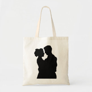 Wedding Favors - Couple silhouette Tote Bag