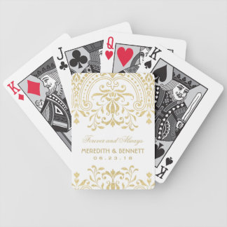 Wedding Favors | Gold Vintage Glamour Bicycle Playing Cards