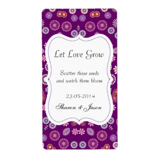 Wedding Favors Seed Packet Labels Let Love Grow