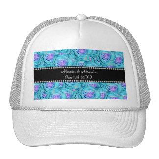 Wedding favors Turquoise roses Trucker Hat