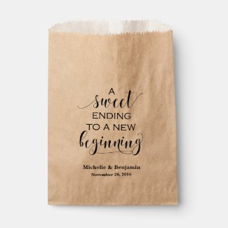 Wedding Favour Bag - Sweet Ending to New Beginning