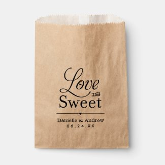 Wedding Favour Bags | Love is Sweet - Black