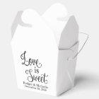 Wedding Favour Box - Love Is Sweet