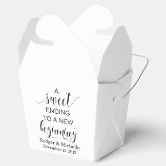 Wedding Favour Box - Sweet Ending to New Beginning