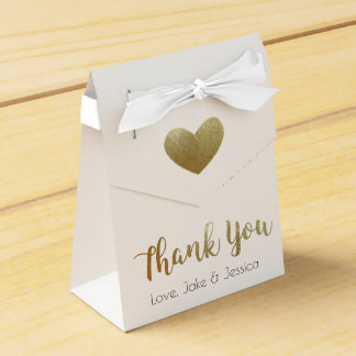 Wedding Favour Box with Gold Thank You