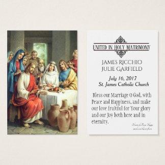 Wedding Favour  Bride Groom Catholic Holy Card