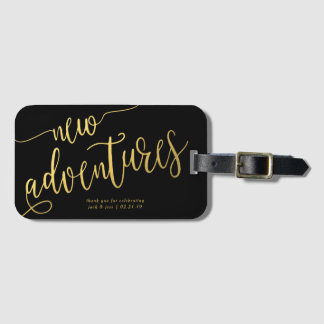 Wedding Favour Luggage Tags - Whimsical Type