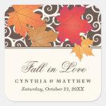 Wedding Favour Sticker | Autumn Fall Theme