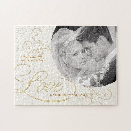 Wedding Favours - Custom Photo Jigsaw Puzzle