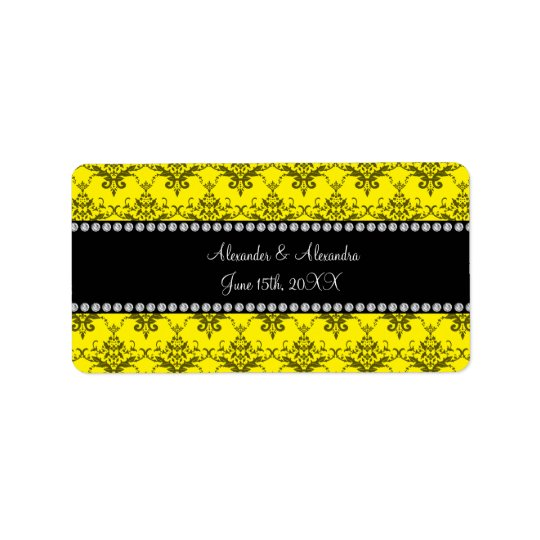 Wedding favours Yellow damask