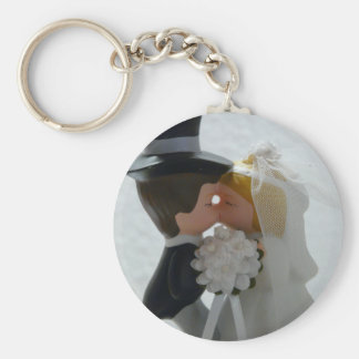 Wedding Figures Basic Round Button Keychain