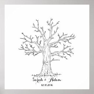 Wedding Fingerprint Tree - a great guestbook