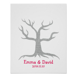 Wedding Fingerprint Tree Guestbook