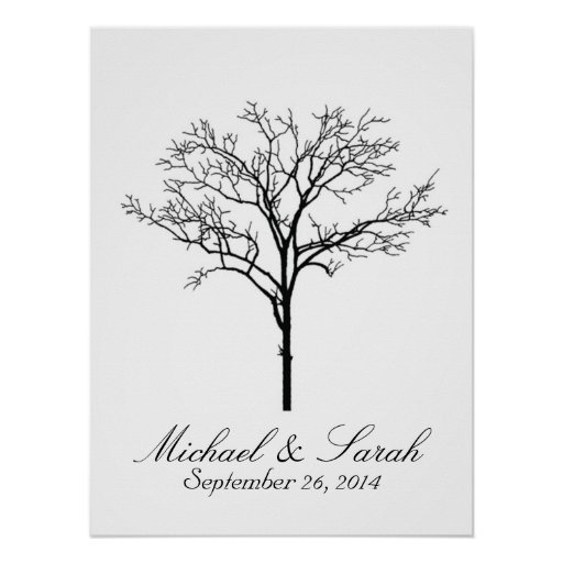 Wedding Fingerprint Tree Guestbook Posters