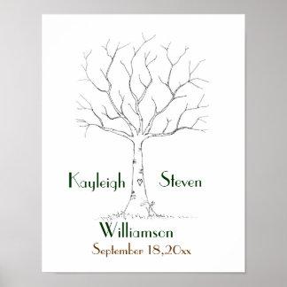 Wedding Fingerprint Tree Poster