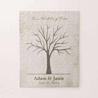 Wedding Fingerprint Tree - Puzzle