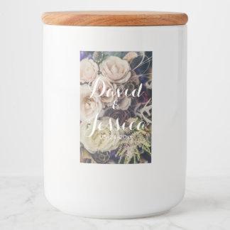 Wedding Floral Bouquet Food Label