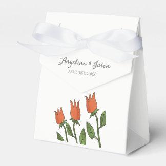 Wedding Floral Watercolor Spring Bright Romantic Favor Box