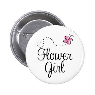 Wedding Flowergirl Button