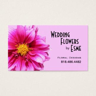 Wedding Flowers Floral Design Florist Dahlia pink Business Card