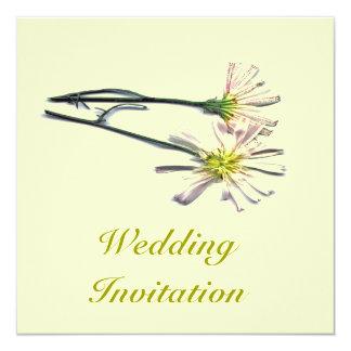 "WEDDING FLOWERS 5.25"" SQUARE INVITATION CARD"