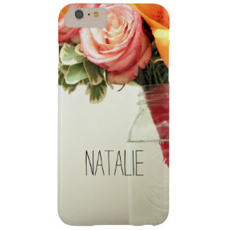 wedding flowers pink orange rose customize barely there iPhone 6 plus case