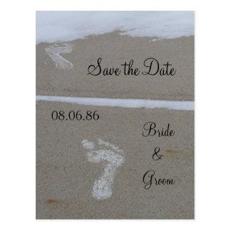 Wedding Footprint Postcard