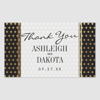 Wedding | Formal Gold Gradient Diamonds on Black Sticker