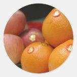 Wedding Fruits Round Stickers