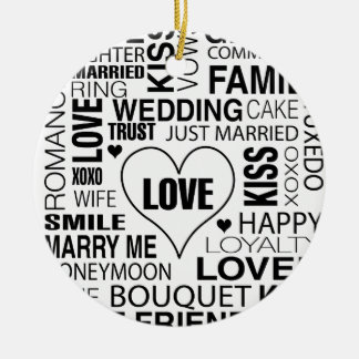 Wedding Gift Bride Groom Love Words Ornament Favor