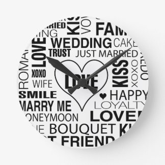 Wedding Gift Bride Groom Wall Clock