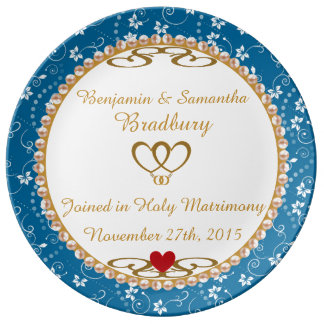 Wedding Gift Commemorative Porcelain Plate