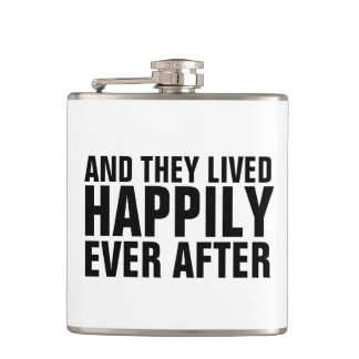 WEDDING gift FLASKS, HAPPILY EVER AFTER Flask