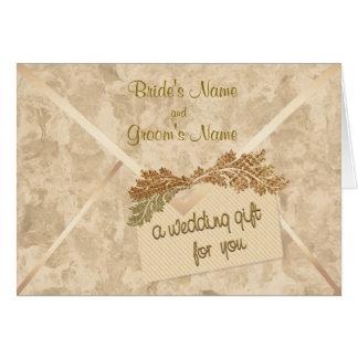 Wedding Gift Money Enclosure Card