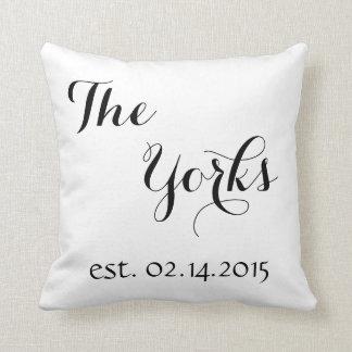 Wedding Gift Pillow - Last Name - Established Date