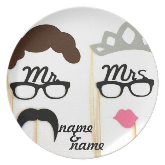 Wedding gift plate