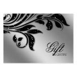 Wedding Gift Registration Card black sparkle xmas