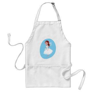 Wedding girl white blue standard apron