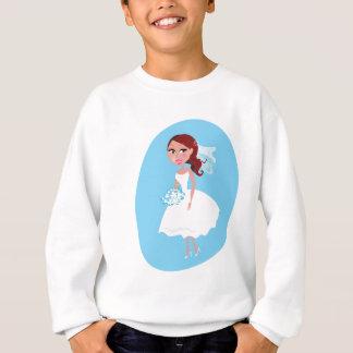 Wedding girl white blue sweatshirt