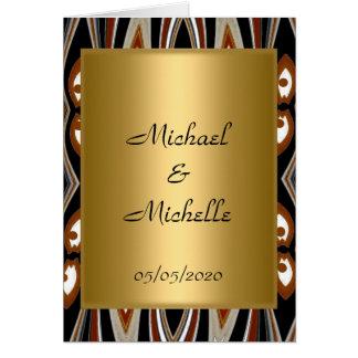 Wedding  Gold Tribal invitation