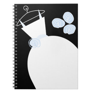 Wedding Gown Blue black notebook