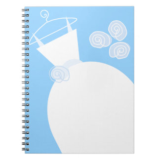 Wedding Gown Blue notebook