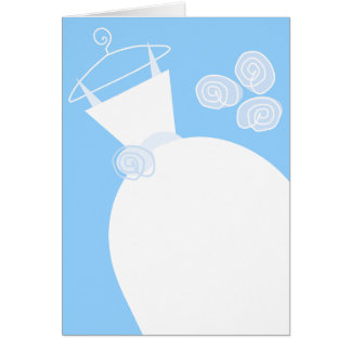 Wedding Gown Blue vertical Card
