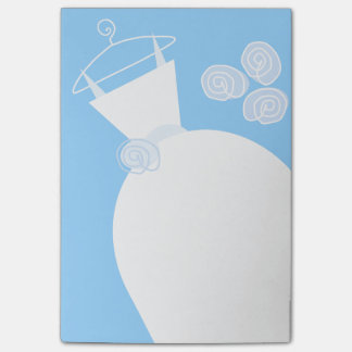 Wedding Gown Blue vertical post-it note