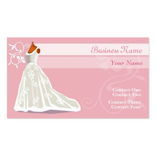Wedding Gown Business Cards