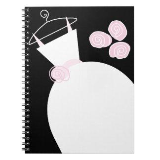 Wedding Gown Pink black notebook