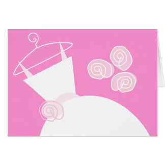 Wedding Gown Pink horizontal Card
